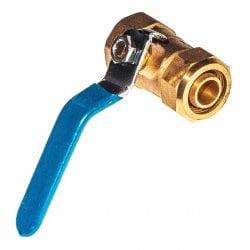 Кран шаровой 20-20мм для металлопластиковых и металлических труб прямой, латунь, ручка