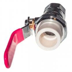 Кран шаровой латунный под PPR 20x1/2 внутренняя резьба с полусгоном