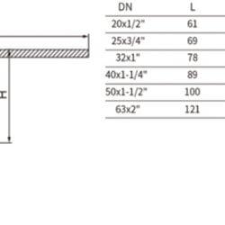 Кран шаровой латунный под PPR 25x3/4 внутренняя резьба с полусгоном