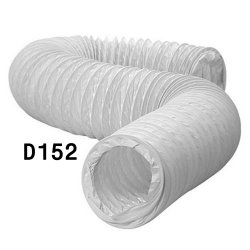 Канал круглый гофрированный 152 мм х 3 м ( ПВХ )