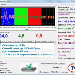 """Фито светодиод 3 Вт 445нм. (синий) на PCB """"звезда"""""""