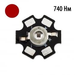 """Фито светодиод 3 Вт 730-740 нм. (дальний красный) на PCB """"звезда"""""""