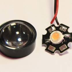 Линза для светодиодов 23мм 1-3W №2 60 градусов