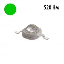 Фито светодиод 3 Вт 520 нм. (зеленый) без PCB