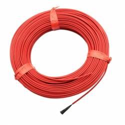 Нагревательный кабель 17 Ом 100 метров 3 мм силикон 24k