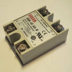 Твердотельное реле 40Ампер 90-250VAC для коммутации переменного тока 24-380VAC