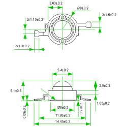 Фито светодиод 5 Вт Full spectrum